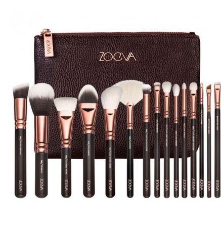 Набор кистей 15штук для макияжа Zoeva в косметичке