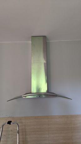 Okap kuchenny INOX szyba 90cm