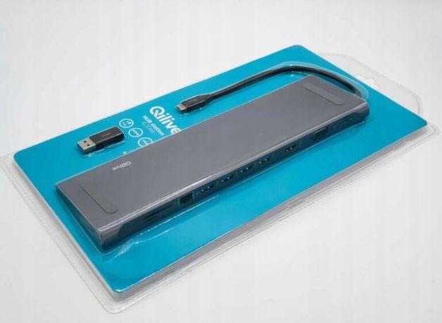 Koncetrator HUB USB 3 HDMI VGA QILIVE Q.3748