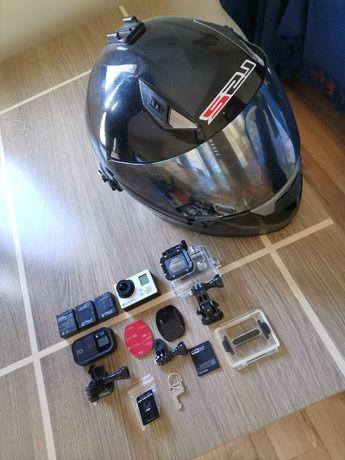 Zestaw GoPro Hero 3 black + 3 baterie i zaczep