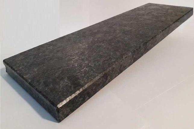 PARAPETY, stopnie, schody, -wym.180x30x2cm z granitu STEEL GREY szczt.