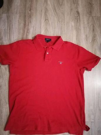 Czerwone Polo Gant Basic Jak Nowe