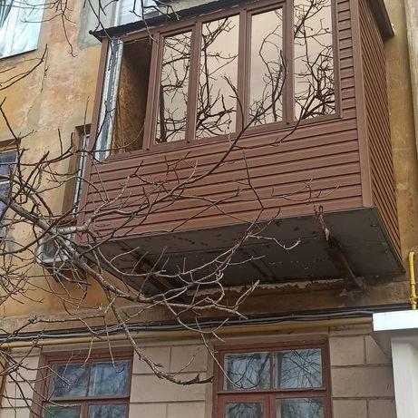 Расширение балкона. Окна.