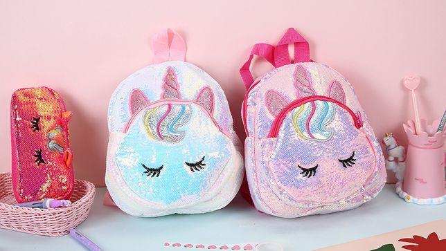 Рюкзак с пайетками для девочки Единорог