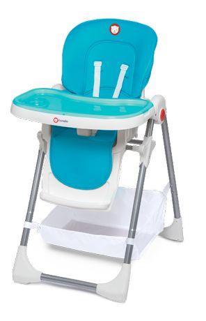 NOWE Regulowane rzesełko do karmienia Lionelo Linn Plus niebieski kosz