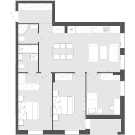 Продається 3-х кімнатна квартира Avalon Zelena
