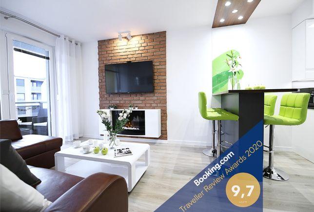 Wrocław Apartament BON TURYSTYCZNY 4os Full/Balkon/Garaż/Kominek