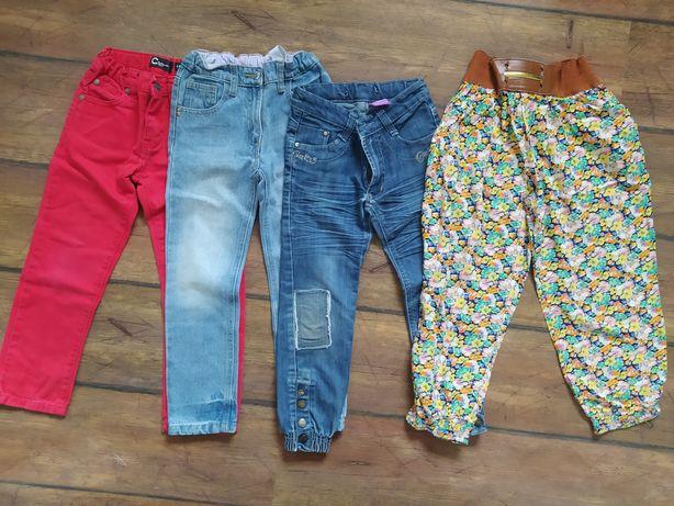 Zestaw spodni 110 / 116 spodnie dziewczynka