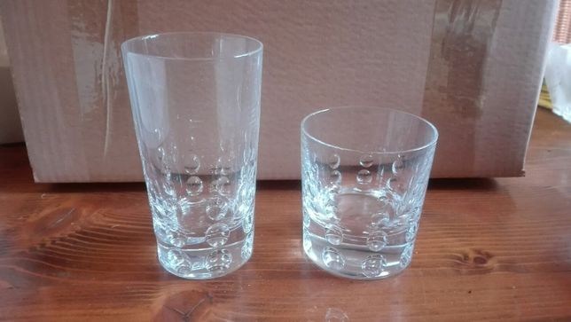 Taças de whisky 24cl e tumbler 33cl, 24% cristal, JG Durand 'Tweed'