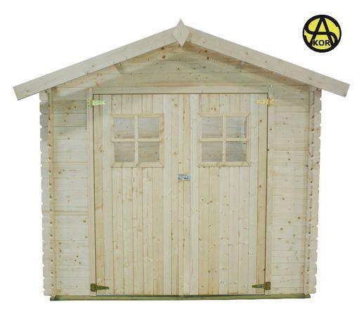 OD RĘKI Domek 2,5x2 narzędziowy drewniany 2,46x1,96 ogrodowy świerk