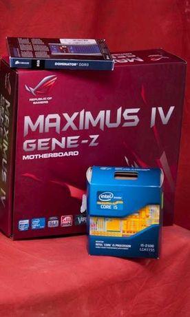 Материнская плата + процессор i5 + оперативная память DDR3 24gb