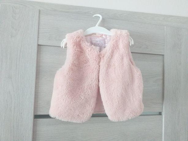 Różowe futerko kamizelka reserved roz 104 110