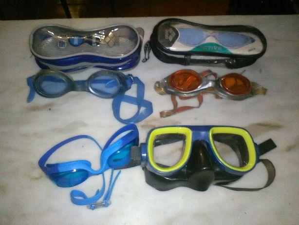 Conjunto de Óculos de Natação e Óculos de Mergulho
