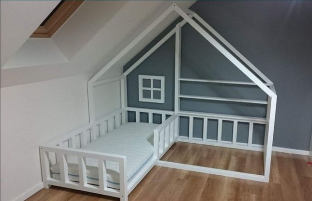 Łóżko dwuosobowe domek