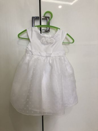Белое нарядное платье болеро cool club, смик, mayoral next