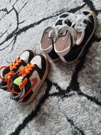 Dwie pary butów - nike 26, bartek 25