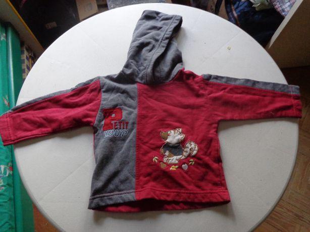 Camisola criança com capucho 6 meses