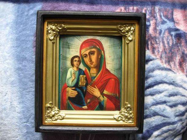 Икона Богородица праворучица 21,5х29х1,8 . 19век.