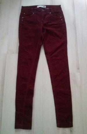 Spodnie bordowe sztruks S New Look