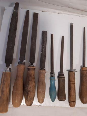 Советские напильники с ручками  времен ссср.