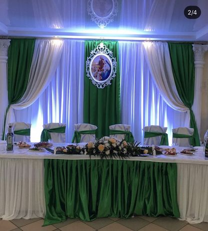 Тканина, атлас, декор, весілля, оформлення