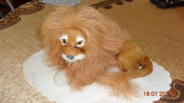 dekoracyjny lew z bujną czupryną - sprzedam