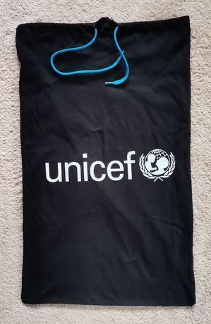 Super worek torba nadruk napis Unicef