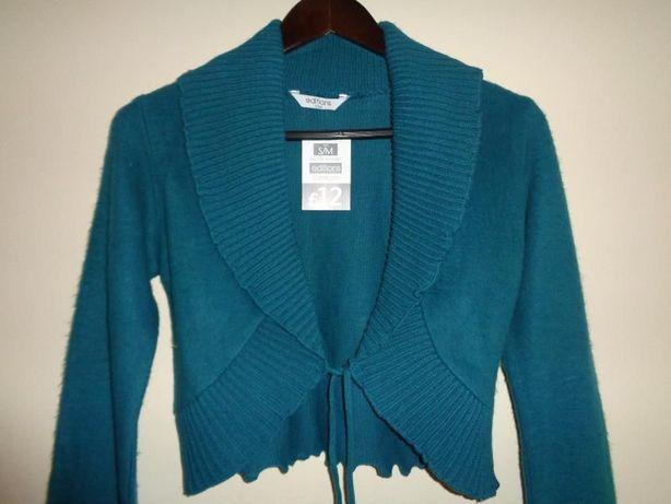 EDITIONS nowy zielony niebieski cardigan kardigan bolerko narzutka S/M
