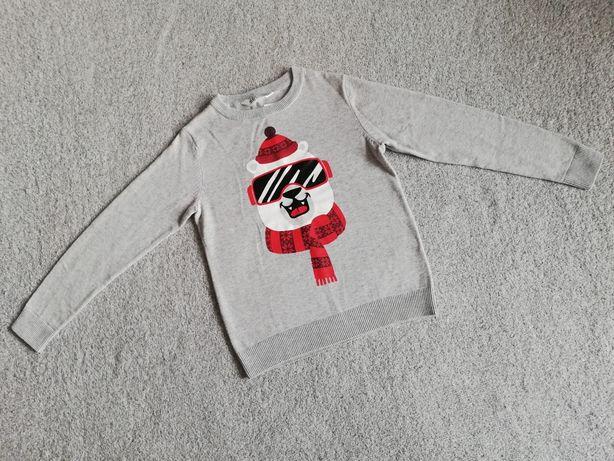 Sweter sweterek świąteczny H&M rozm 134