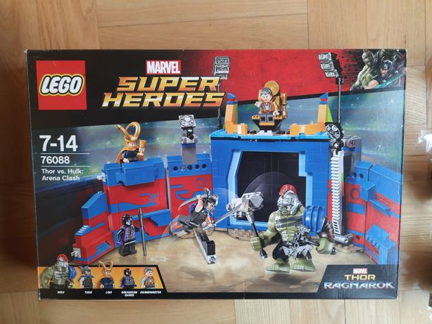 Lego 76088 Thor vs. Hulk: Arena Clash oraz 76083 Beware the Vulture