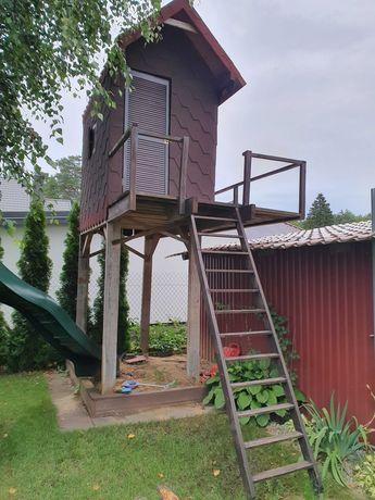 Domek ogrodowy dla dzieci, drewniany dom do ogrodu