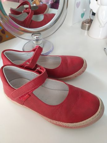Eleganckie czerwone pantofelki, półbuty PRIMIGI, rozm. 29. Prosto z UK