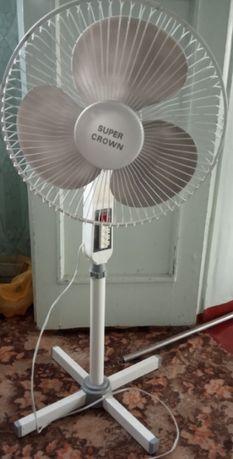 Вентилятор напольный Super Crown рабочий