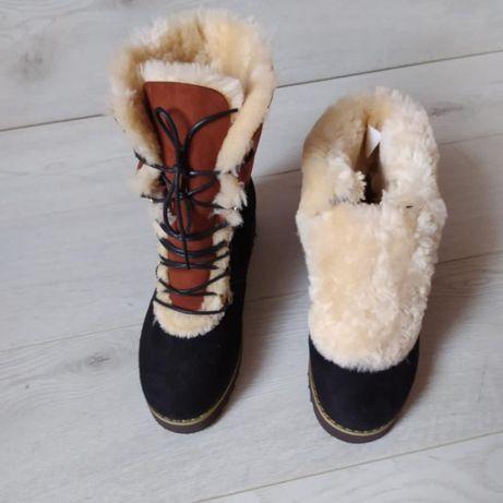 теплые меховые ботинки