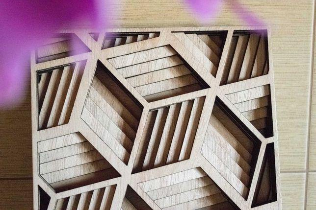 Quadro artesanal decorativo Feito à mão em madeira   Corte a laser