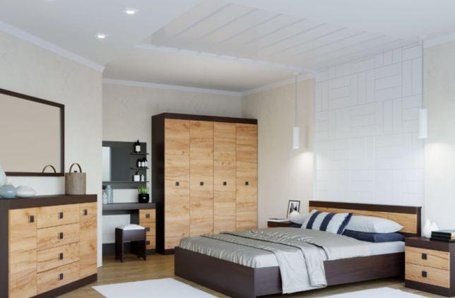 ХИТ ПРОДАЖ! Недорогая спальня. Спальный гарнитур, кровать, шкаф, комод
