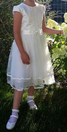 Sukienka komunijna plus bolerko