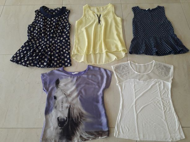 Bluzka, bluzeczka zestaw na wiosnę, lato H&M