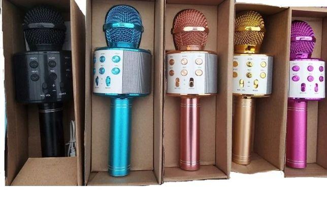 Беспроводной караоке микрофон  со встроенной колонкой DM Karaoke WS858