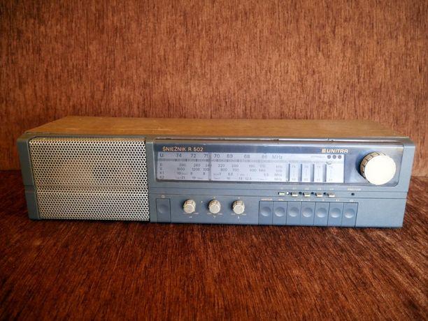 Radio Unitra Śnieżnik R 502 Vintage Stare radio Retro PRL