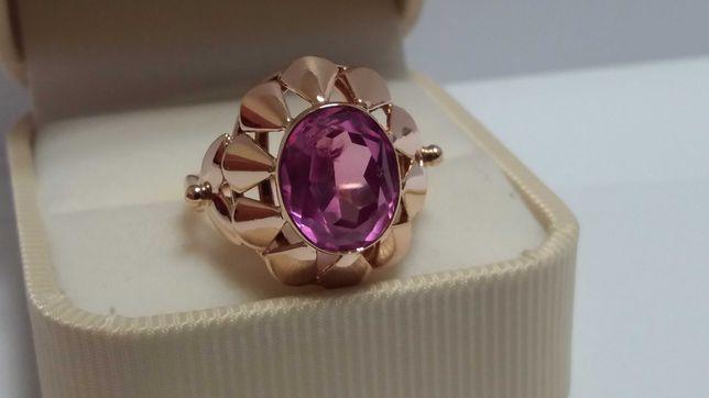 Pierścień pierścionek z Rubinem Złoto