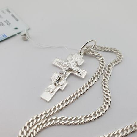 Лучшая цена! Серебряная цепочка с крестиком. Крест серебро 925. хре