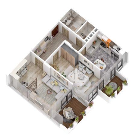 Продаж 2 кім квартира 66 кв м Новобудова ЦІНА ЗАБУДОВНИКА !