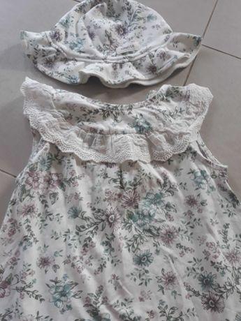 Komplecik sukienka i kapelusz Newbie 74