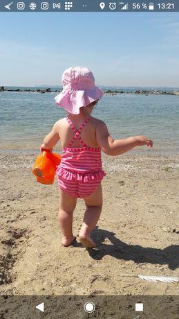 Классный купальник для девочки  до 2 х лет Панамка в подарок !