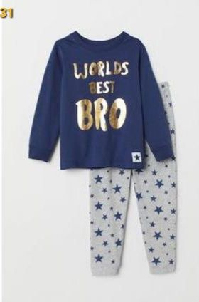 Піжама хлопчику бавовняна H&M (пижама мальчику хлопковая) 110-116(4-5)
