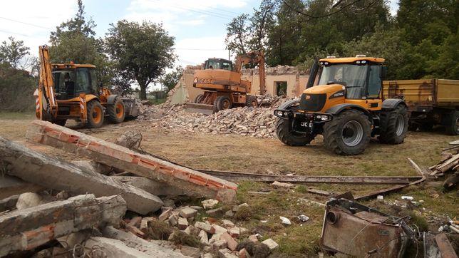 Rozbiórki wyburzenia usługi koparką gruz prace ziemne