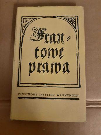 Frantowe Prawa z 1518 wyd. 1 Magnuszewski PIW
