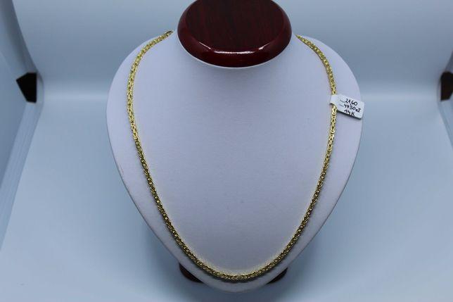 Złoto/Złoty łańcuszek męski 585 14K 21,60 gram Splot Królewski Nowe