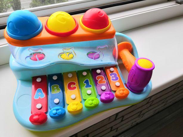 Ксилафон з рознацветными шариками Hola Toys